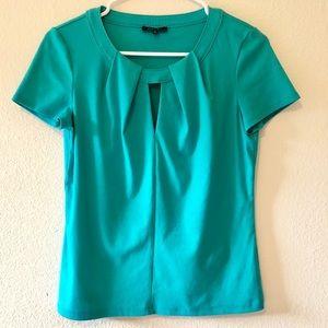 Lafayette 148 NY Turquoise Blouse Size Small